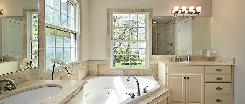An upscale bathroom on a dime store budget kbr kitchen for Kbr kitchen and bath