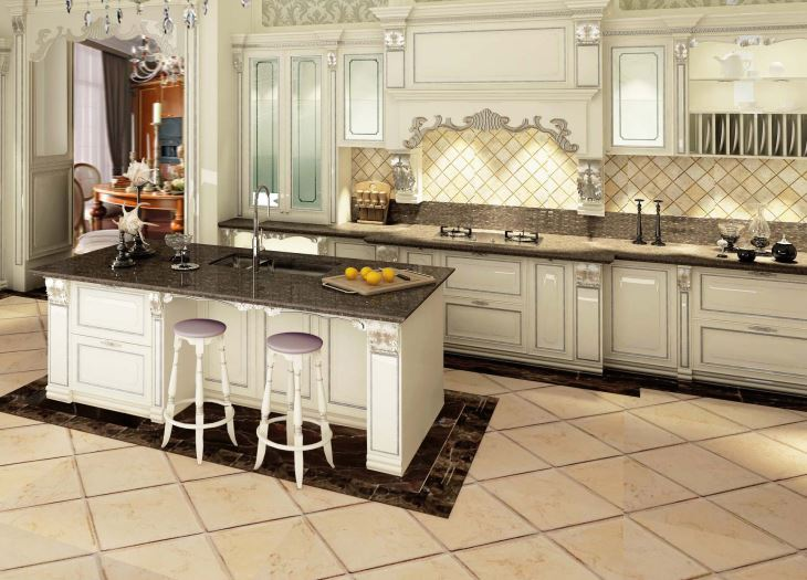 classic solid wood kitchen cabinets Kbr